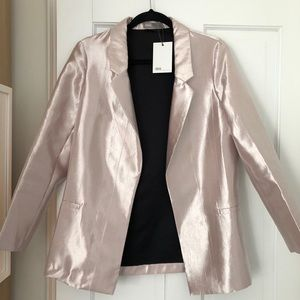 ASOS NWT Pink Metallic Blazer 8